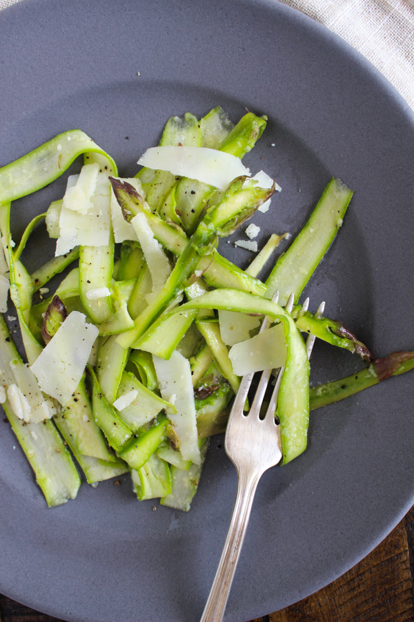 Shaved Asparagus with Lemon Vinaigrette and Pecorino