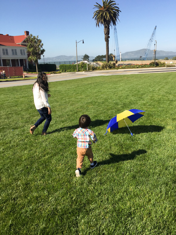 Preston and Mom at SF park
