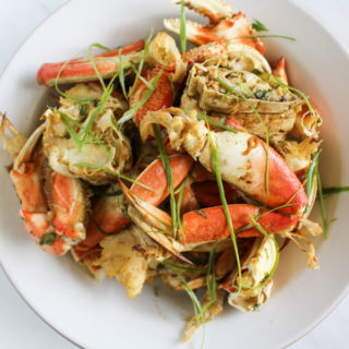 Korean Marinated Oven-Roasted Dungeness Crab