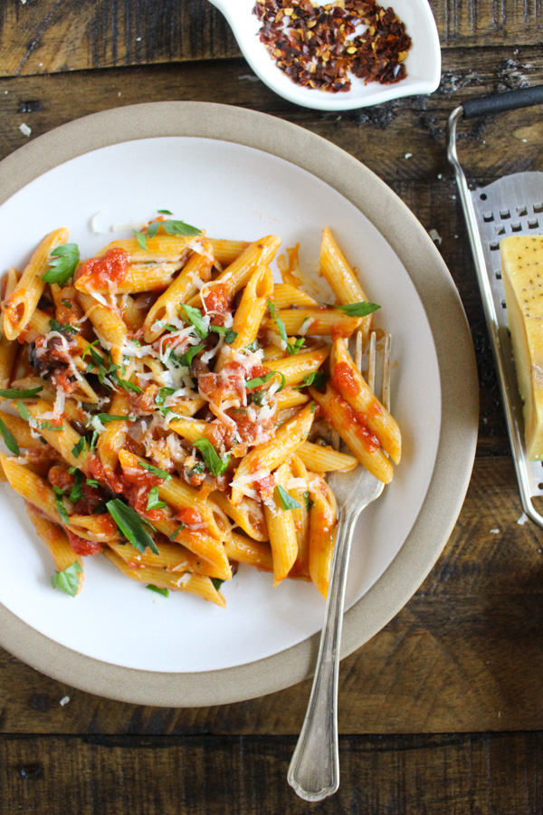 Penne alla Puttanesca with Calabrian Chilies