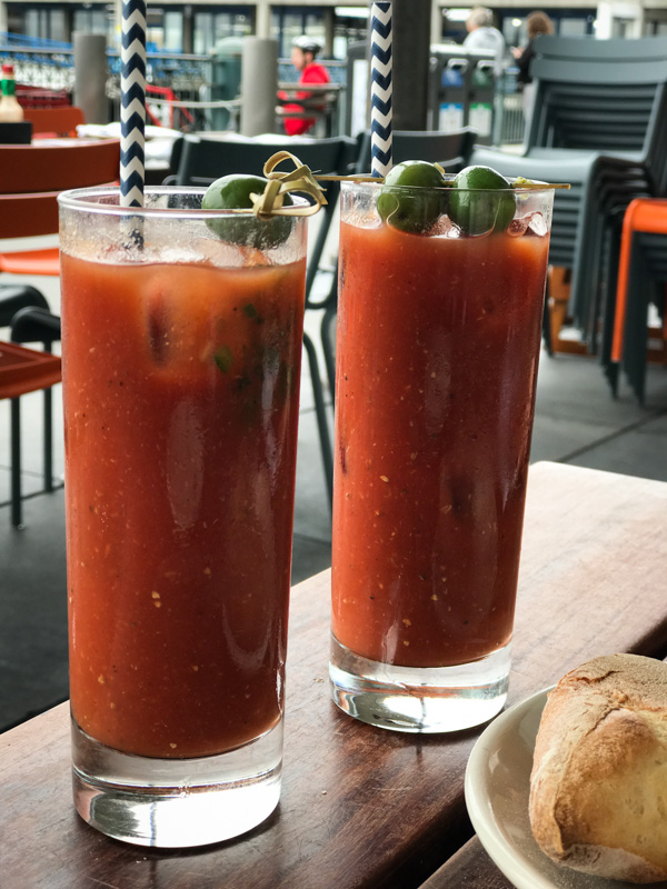 Bloody Mary's at Hog Island Oyster Co.