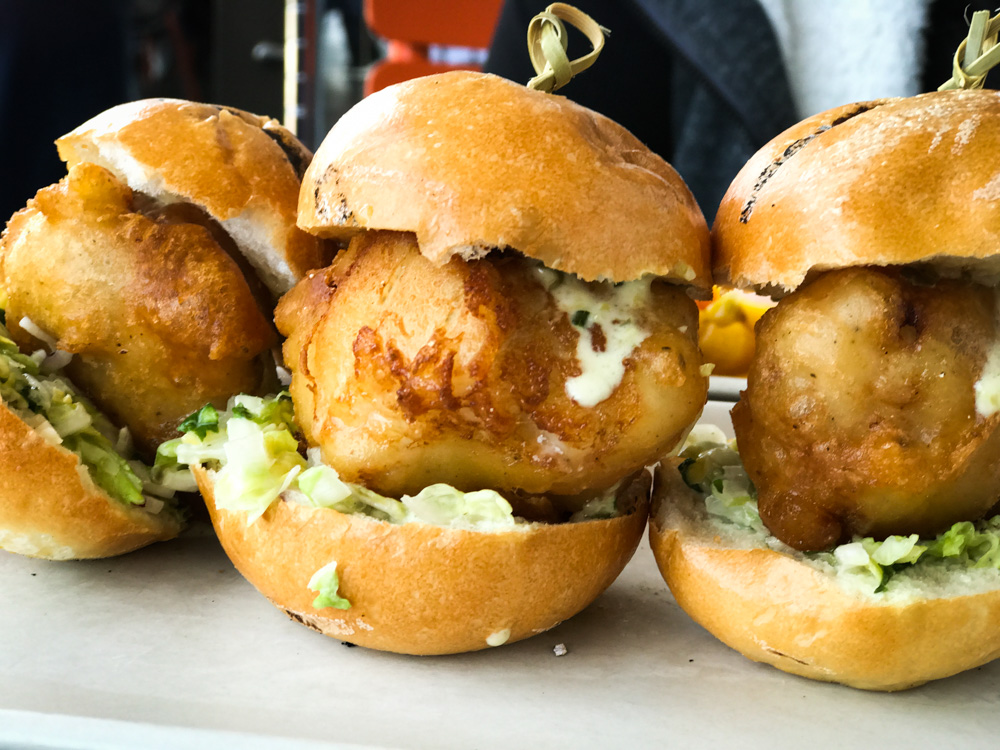 Asian Carp Sliders at Hog Island Oyster Co.