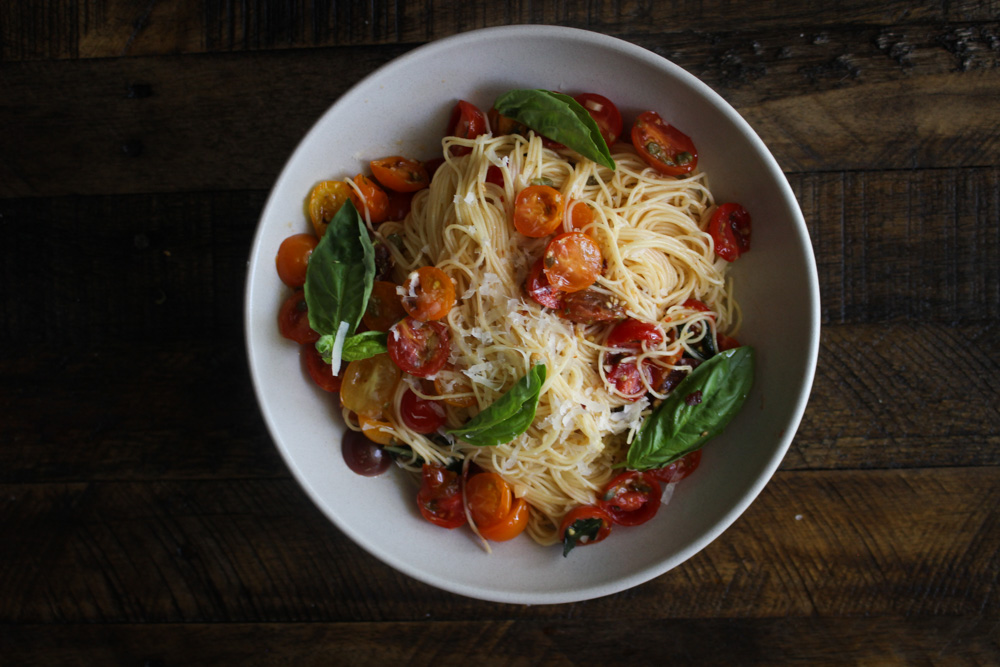 Angel Hair Pasta with Summer Tomatoes (Pasta al Pomodoro Crudo)