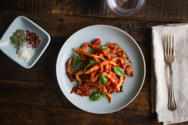 Hand Rolled Noodles (Pici) with Neapolitan Ragu