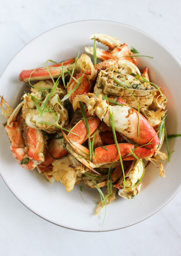 Korean Marinated Oven-Roaasted Dungeness Crab